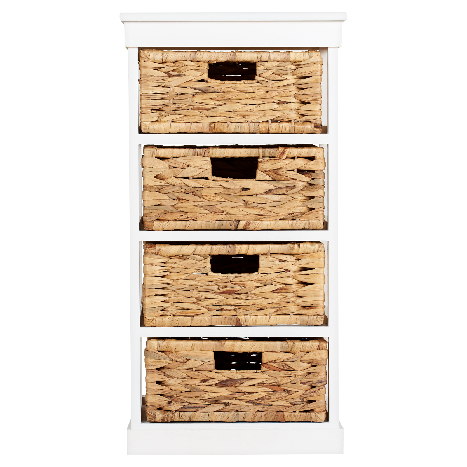White Rattan Bathroom Storage: Hartleys Large White 4 Basket Chest Home Storage Unit