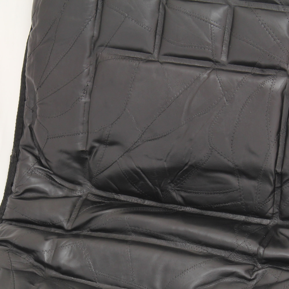 Pair Of 2 Orthopaedic Leather Front Car Seat Covers