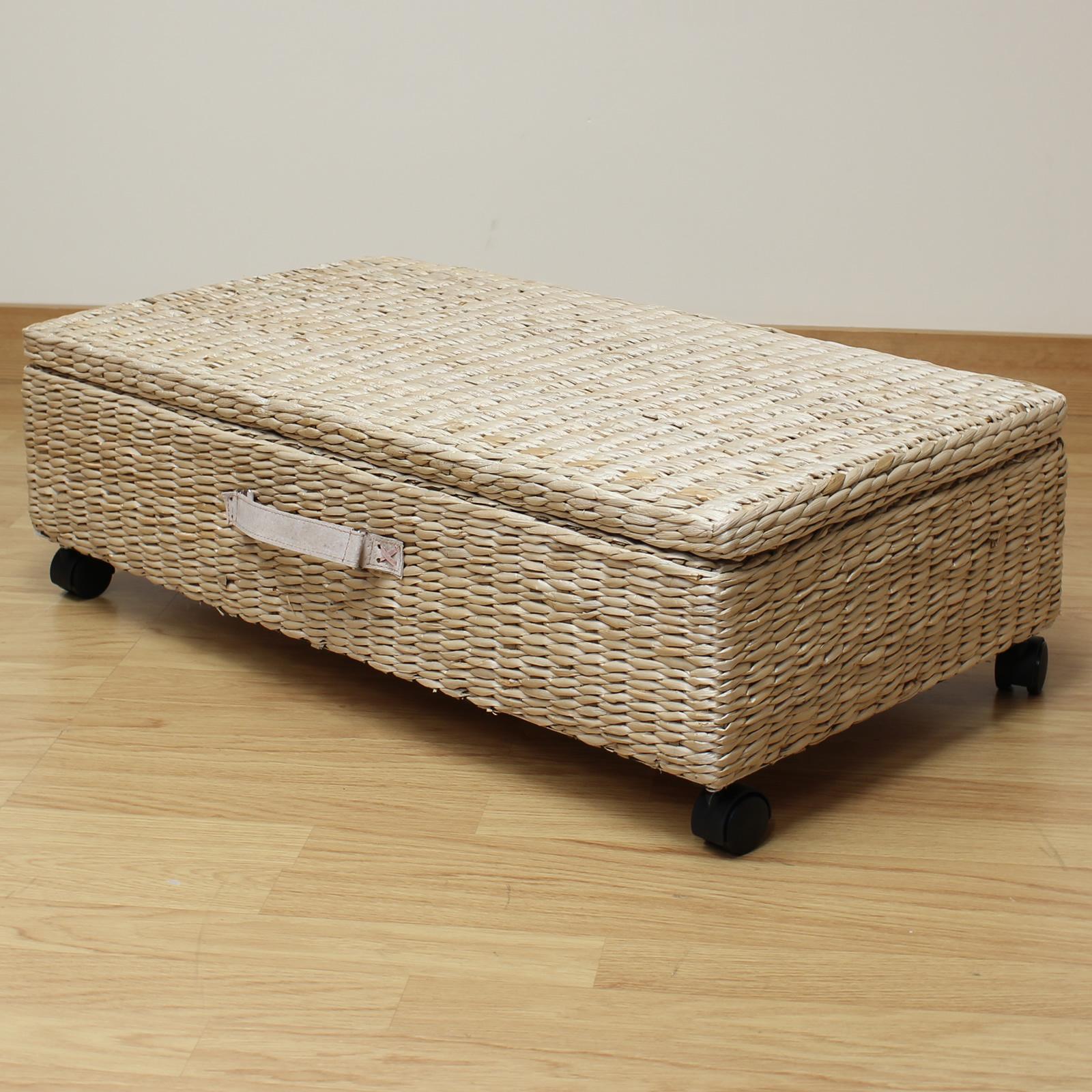 Sentinel Hartleys Large Under Bed Storage Box Chest Shoes Bedding Blanket Underbed Trunk
