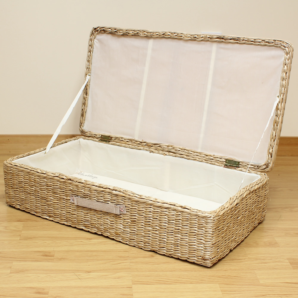 Home underbed storage baskets wicker underbed storage basket - Sentinel Hartleys Large Under Bed Storage Box Chest Shoes Bedding Blanket Underbed Trunk