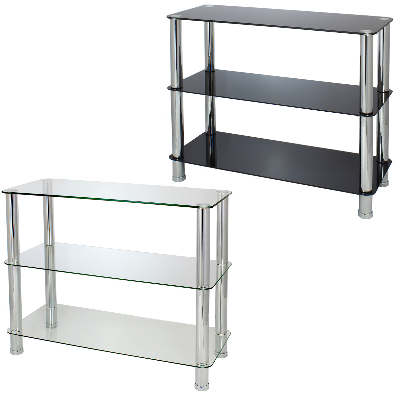 shelves for bedroom 3 tier glass shelf unit office bedroom lounge hallway 13145