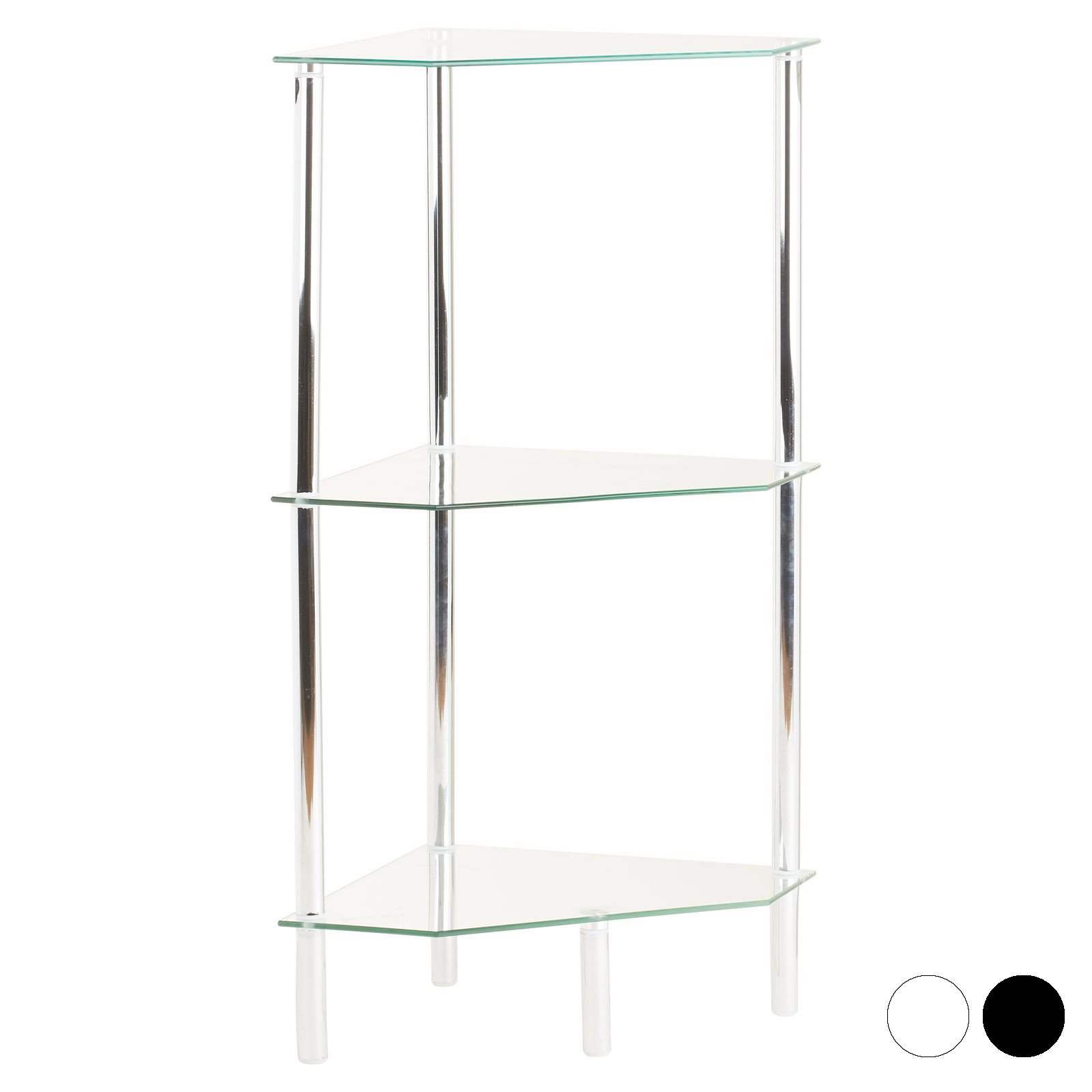 Details About Glass Corner Shelf Shelving Unit Display Bathroom Hall End Lamp Table Storage