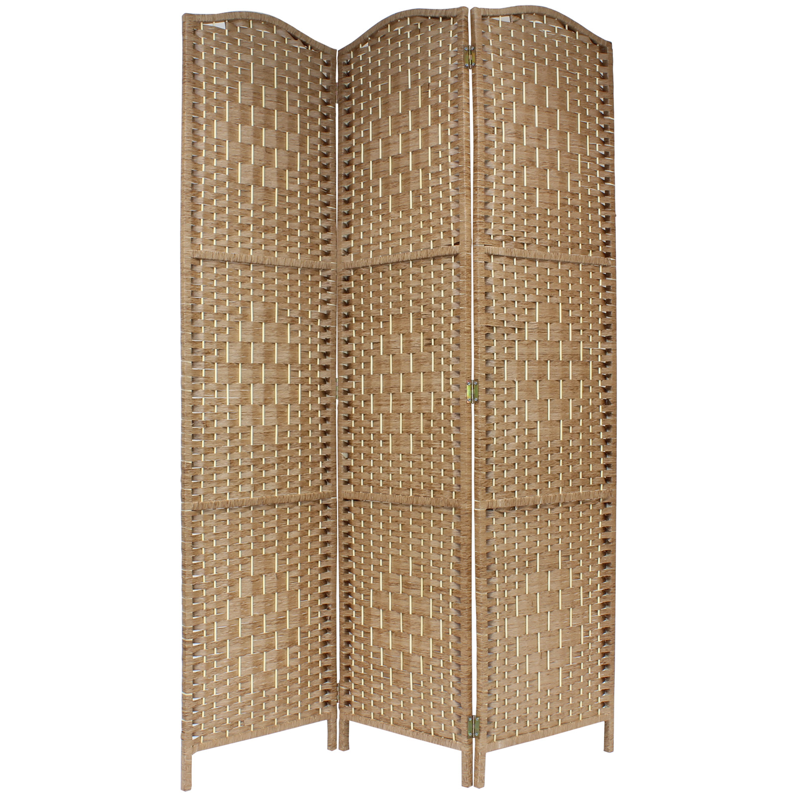 hand partition wicker sentinel room itm screen panelprivacy main separator divider woven made