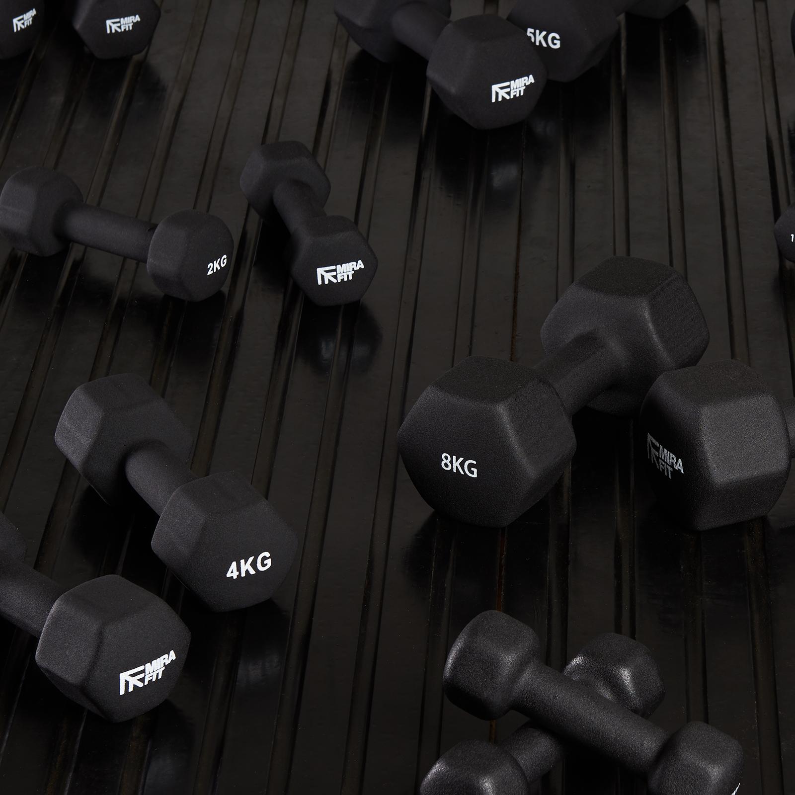 Viper 10 kg Femme Haltère Poids Set Aérobic Gym//Entraînement Haltères Kit