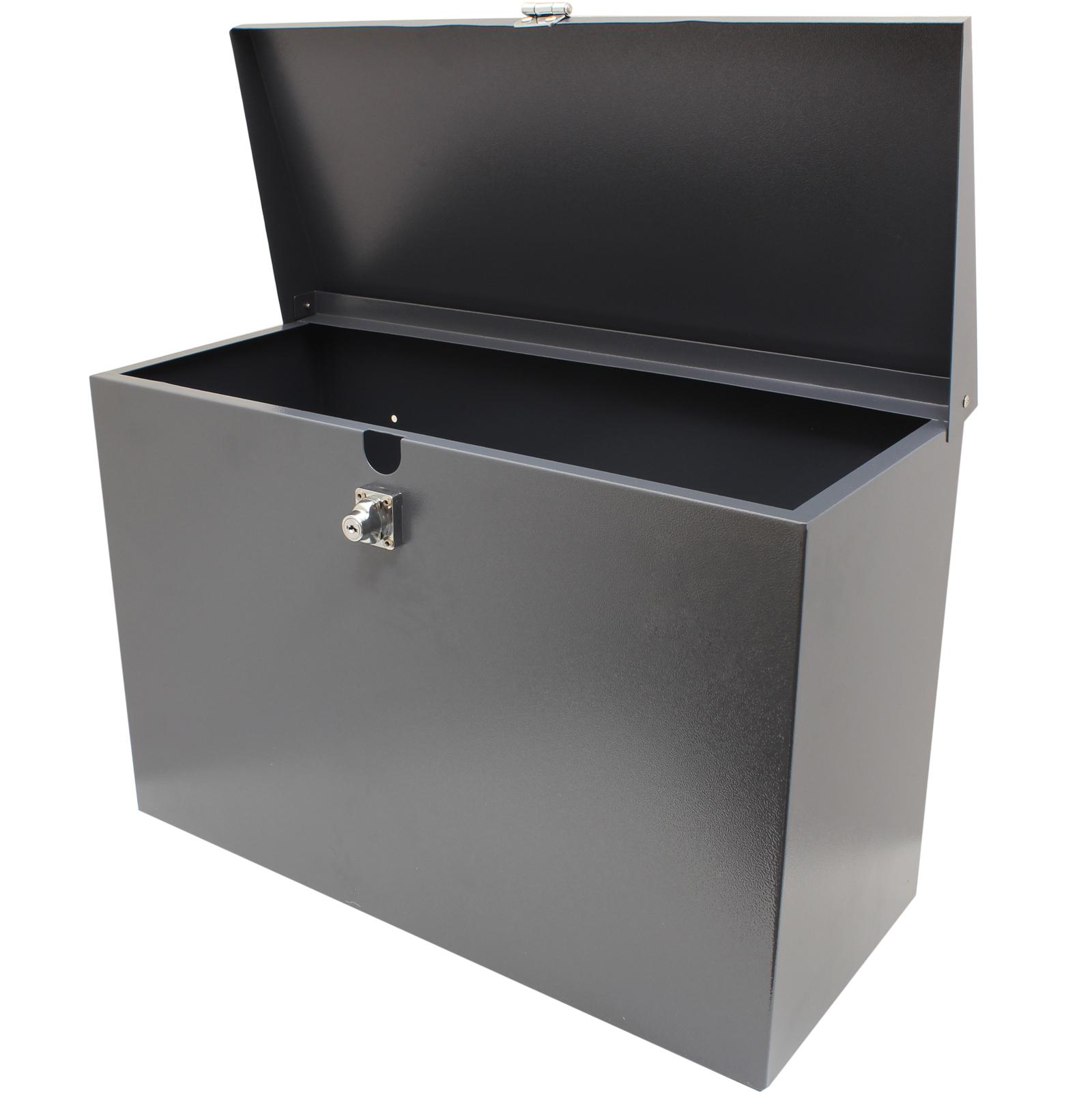Letterbox Uk: HARDCASTLE LARGE GREY LOCKABLE LETTERBOX/PARCEL BOX HOME
