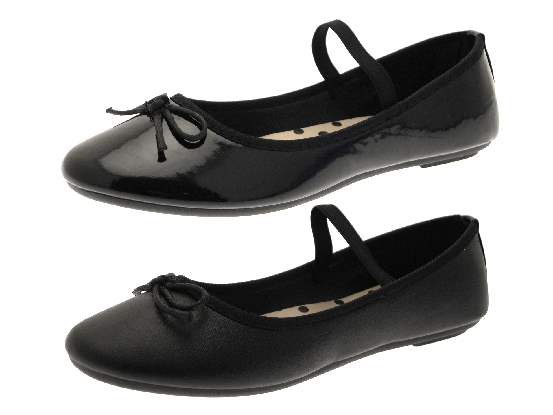 Black Patent Dolly Shoes
