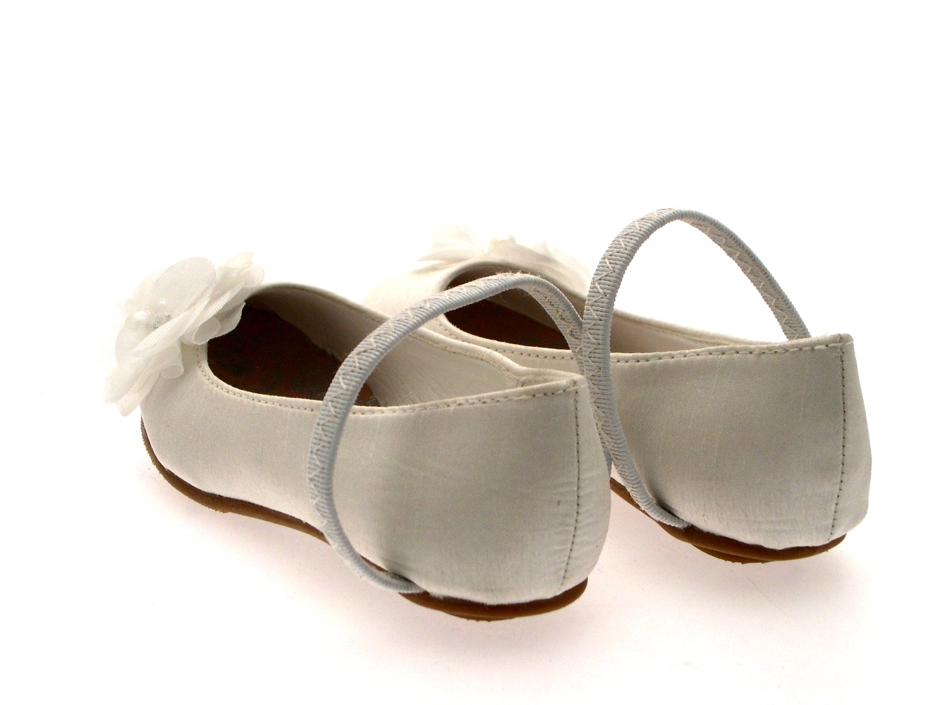 Girls Satin Wedding Bridesmaids Shoes Low Heel Party Flower Sandals ... 618246490