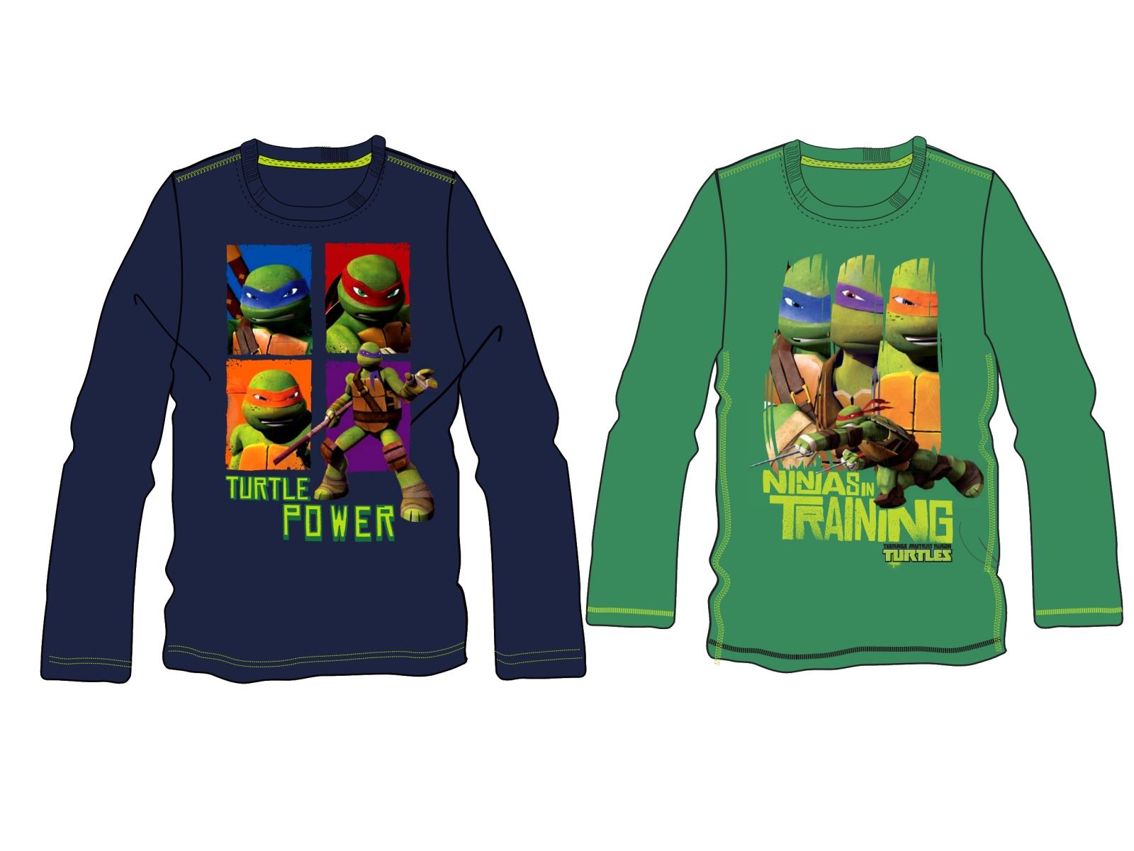 TMNT Official Teenage Mutant Ninja Turtles Long Sleeve T-Shirt Top Ages 2-8
