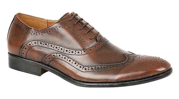 b0900d2bd2ab46 Mens Italian Designer Inspired Faux Leather Shoes Formal Brogues ...