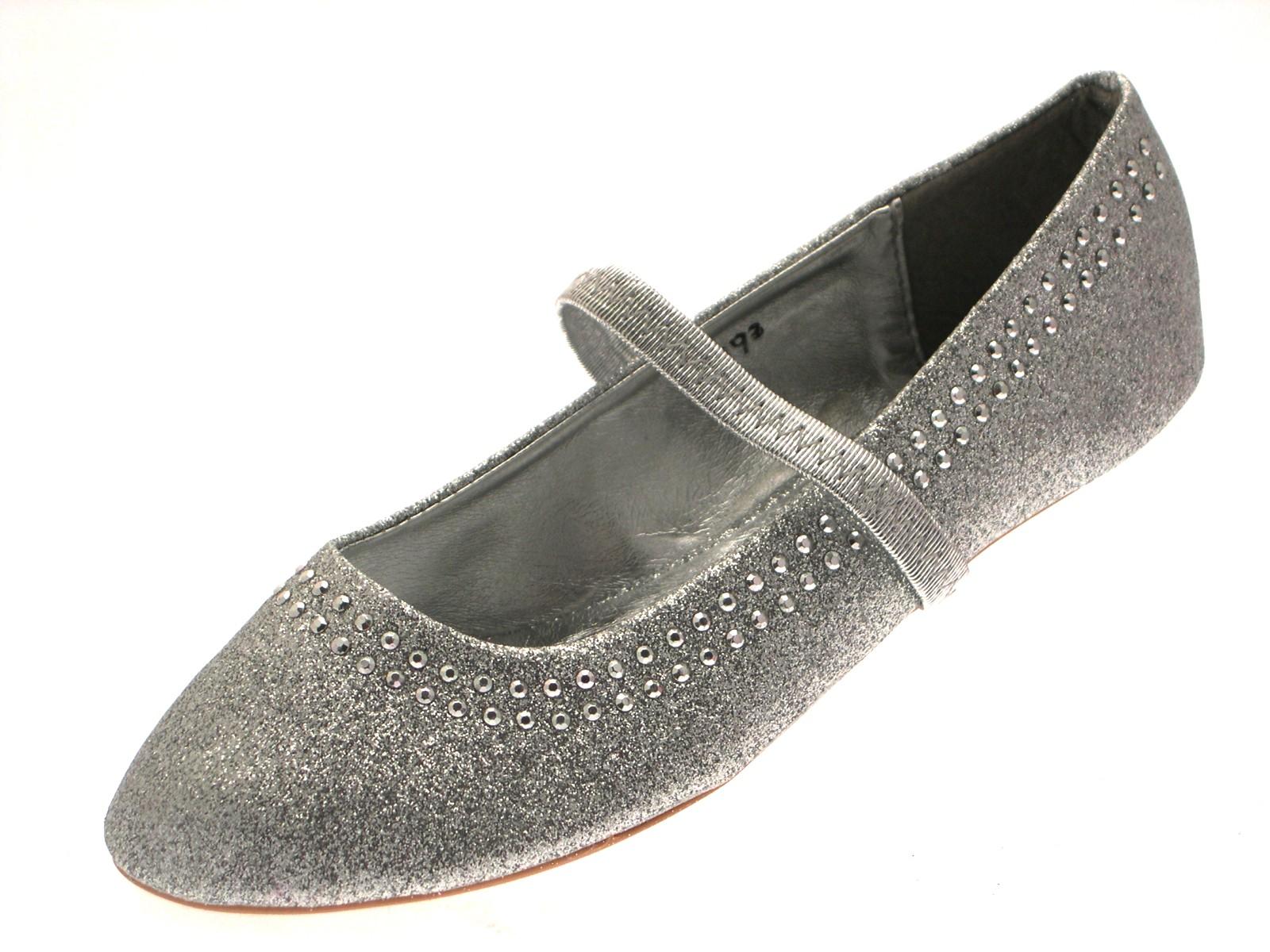 Niños Niñas Mary Janes Ballet Bombas Tachonado Brillo Fiesta Zapatos PLANOS SIZE UK 9-2