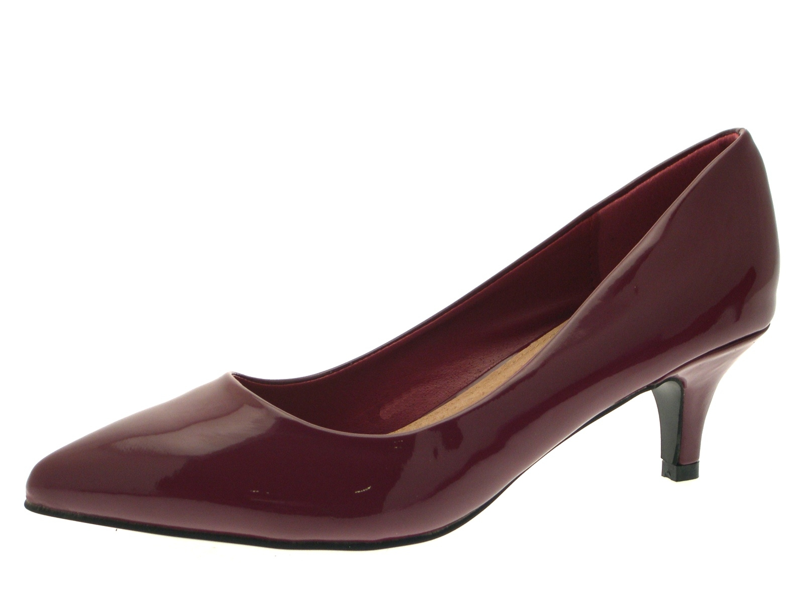 Burgundy Suede Shoes Womens