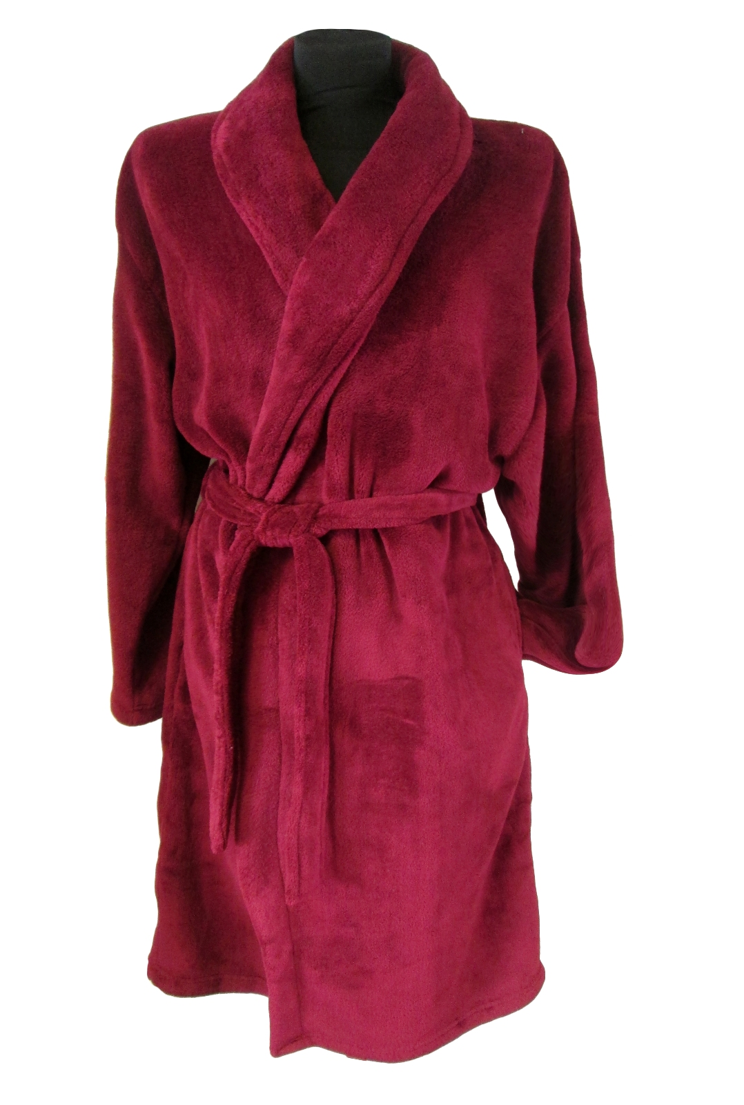 Mens Luxury Dressing Gowns Fleece Bath Robes House Coat