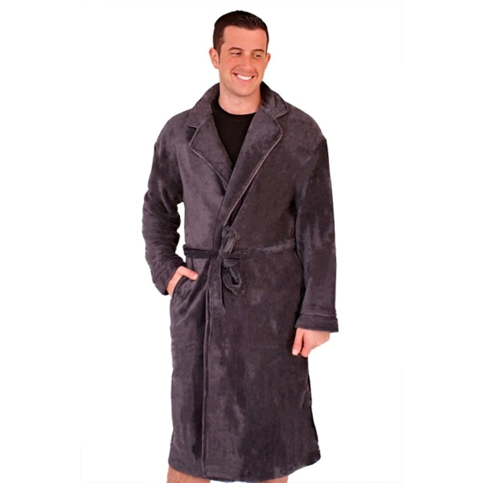 House Coat: Mens Luxury Dressing Gowns Fleece Bath Robes House Coat