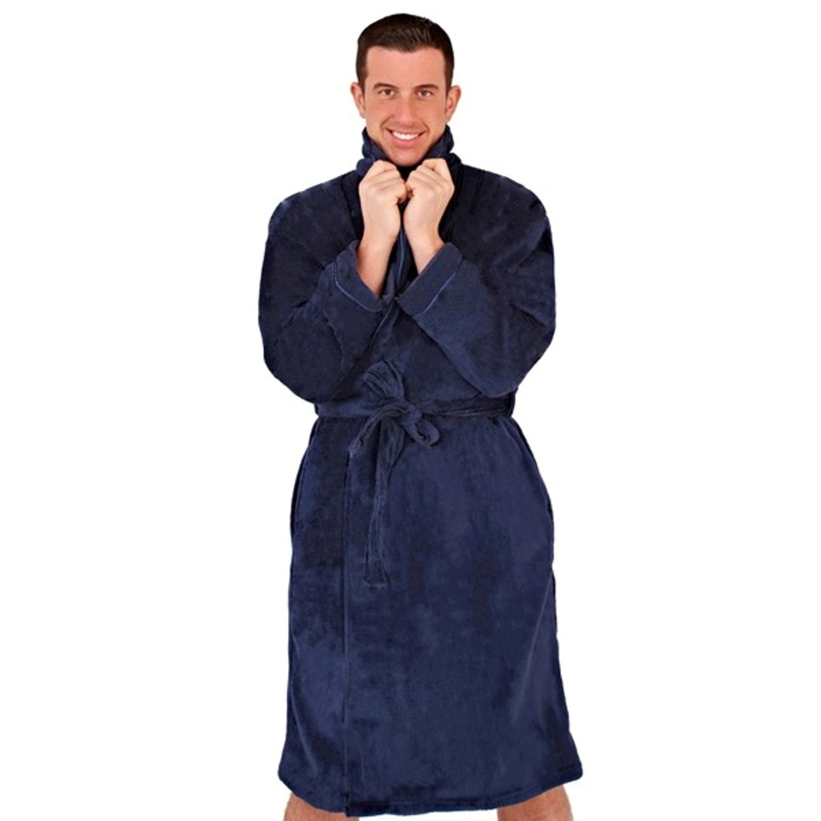 Dressing Gowns And Robes: Mens Luxury Dressing Gowns Fleece Bath Robes House Coat