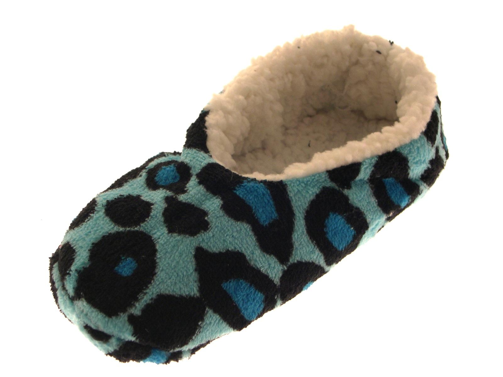 Womens Sequin Sherpa Fur Lined Slipper Socks Ladies Slippers Booties Size UK 3-8 | EBay
