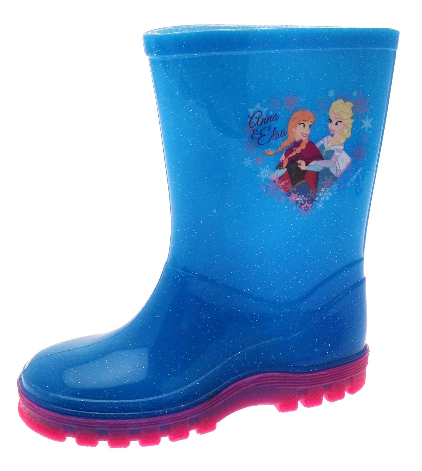 GIRLS PINK GLITTER UNICORN WELLIES WELLINGTON RAIN SNOW BOOTS INFANTS SIZE 6-12