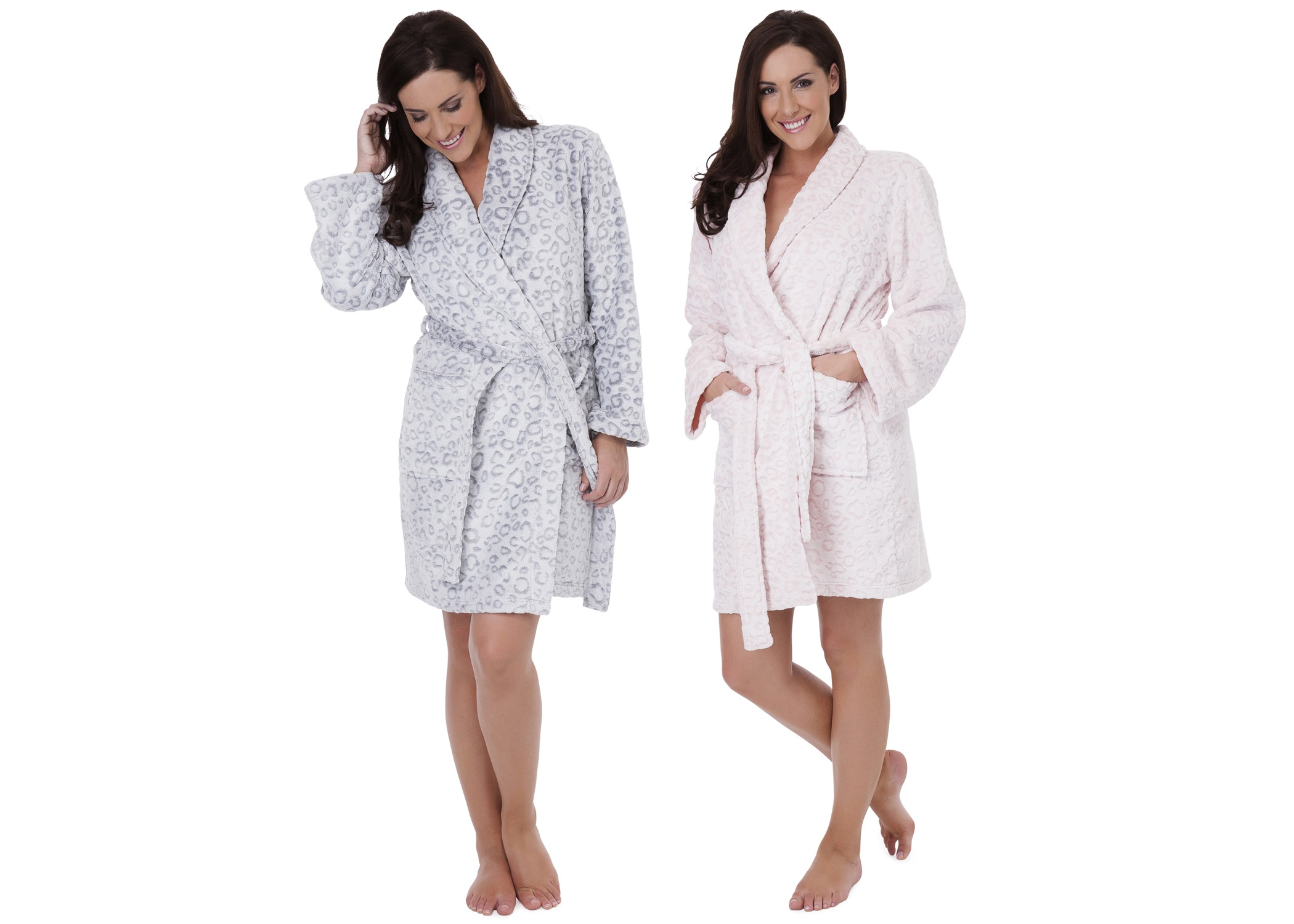 Womens Luxury Leopard Nightwear Range Robe Dressing Gown Pyjamas Pjs ... 449ba27cd
