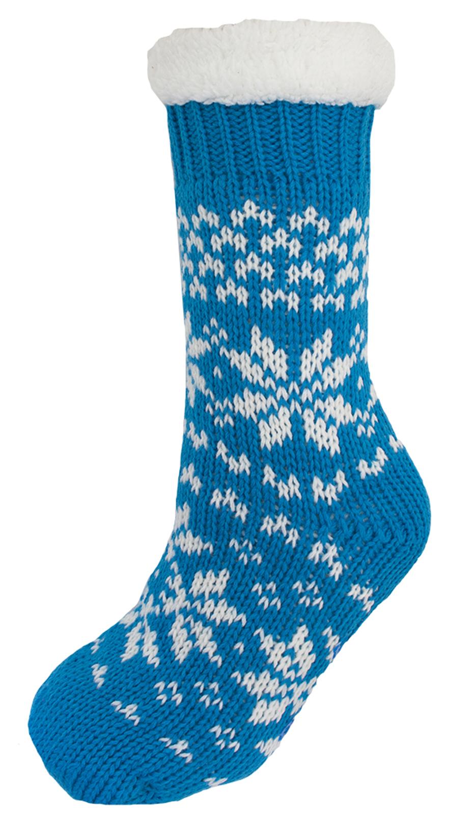 Para Niños Niños Niñas Fairisle Zapatillas Calcetines Cama Piel Forrada BOTINES SIZE UK 4-7