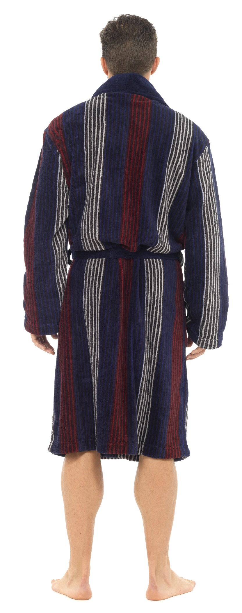 Mens Luxury Full Length Velour Fleece Robe Dressing Gown Boys Gents ...