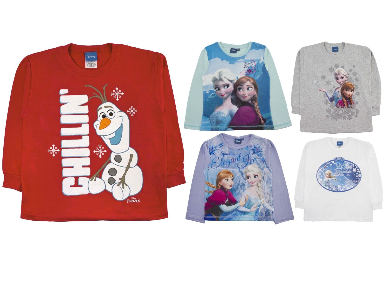 17ccf43a4 Disney Frozen Elsa Anna Olaf Long Sleeve T Shirt 100% Cotton Top Kids Size
