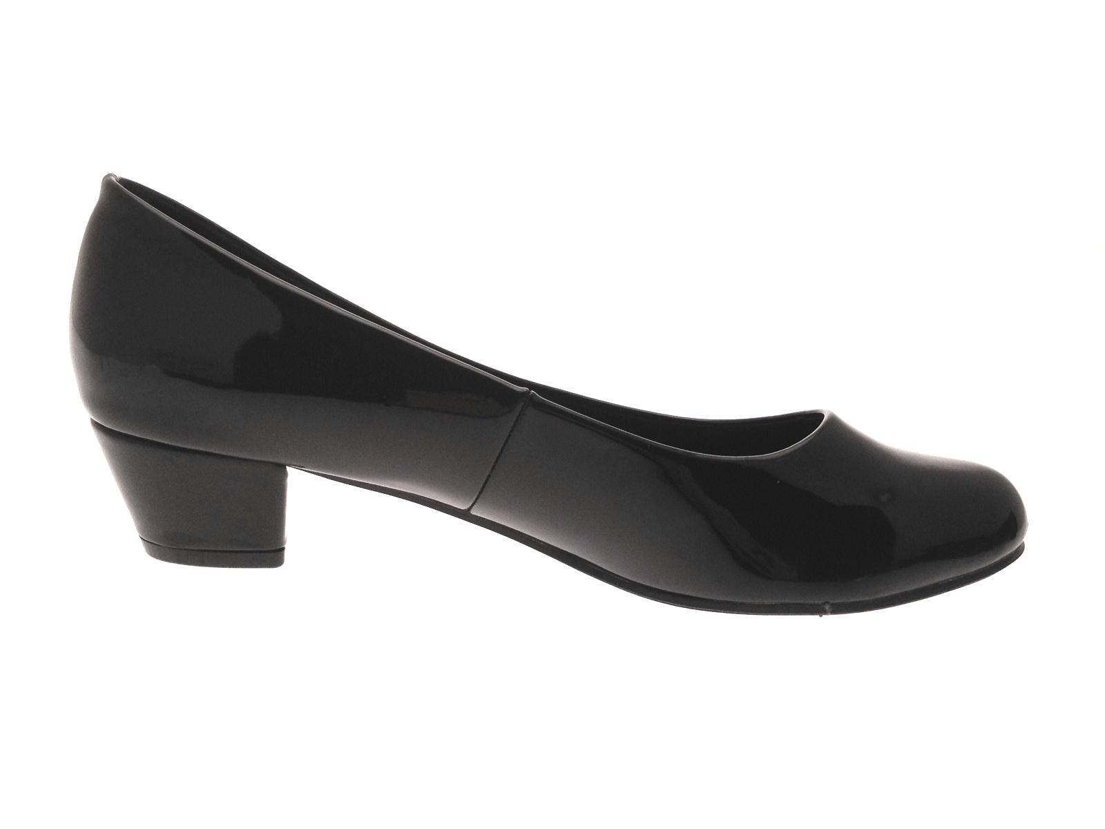 b74686d1cd6b6 Womens Low Block Heels Comfort Work Office Loafers Smart Court Shoes ...