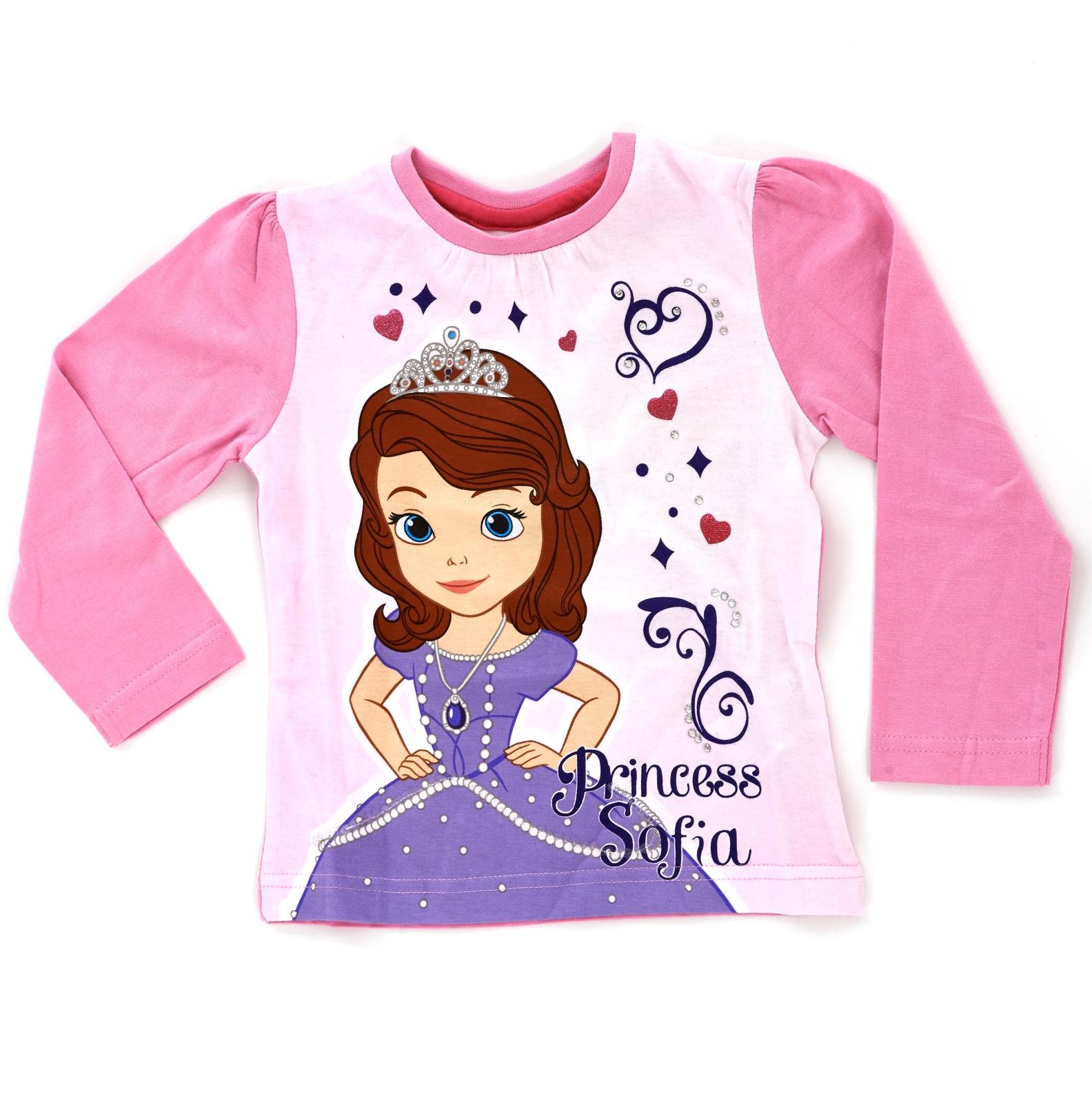 disney princess sofia 100 cotton long sleeve t shirt girls character top size ebay. Black Bedroom Furniture Sets. Home Design Ideas