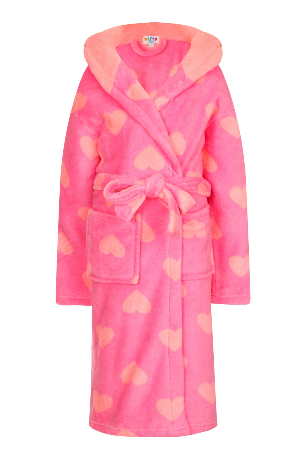 Kids Boys Girls Fleece Dressing Gown Bath Robe Wrap House Coat ...