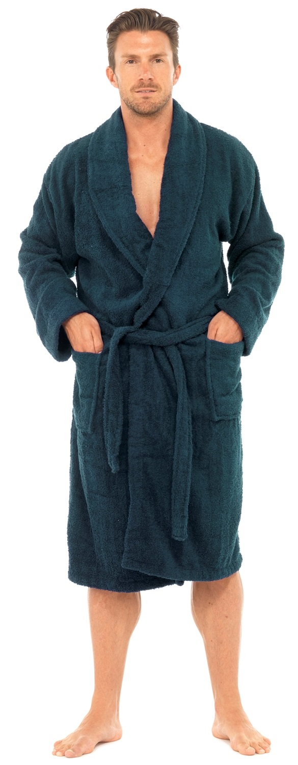 Mens Pure 100% Cotton Luxury Towelling Bath Robes Dressing Gowns ...