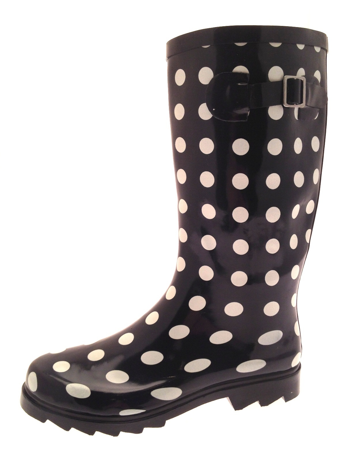 Ladies Women/'s Spotted Wellington Boots Rainy Snow Waterproof Wellies 3-8