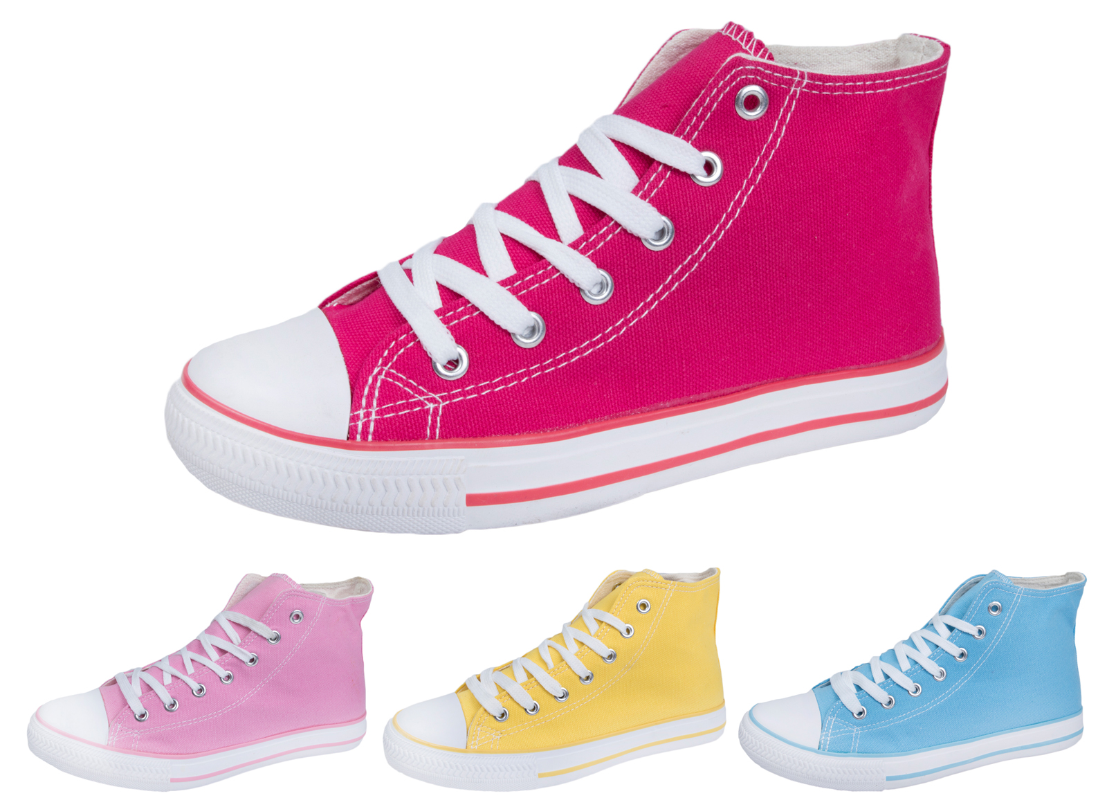 Girls Boys Kids ToddlerTrainers Casual Plimsolls Lace Up Flat Pumps