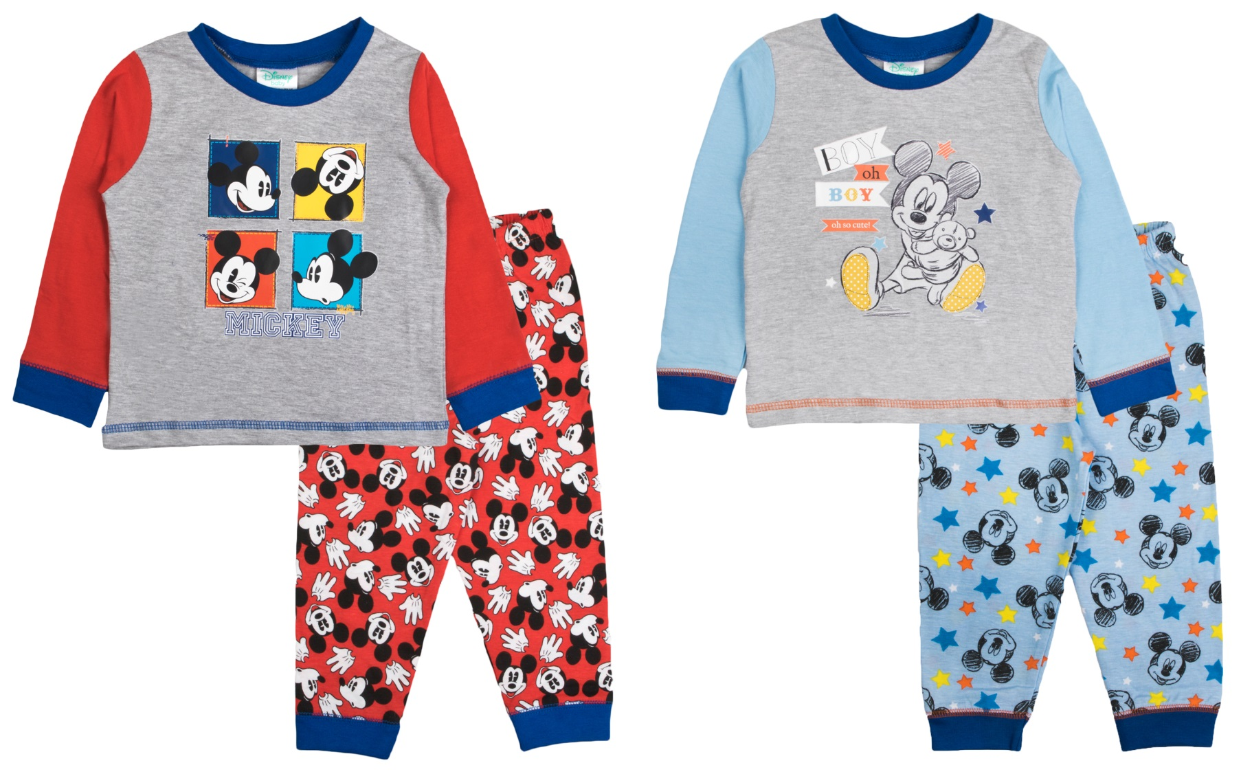 "DISNEY MICKEY MOUSE CHARACTER TODDLER//BOYS//CHILDREN//KIDS PYJAMAS /""OH BOY/"" /""STAR/"""