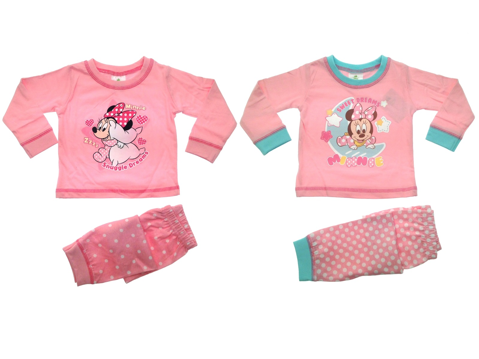 44872f37b Baby Girls Pyjamas Kids Toddlers Disney Minnie Mouse Pjs Set Me To ...