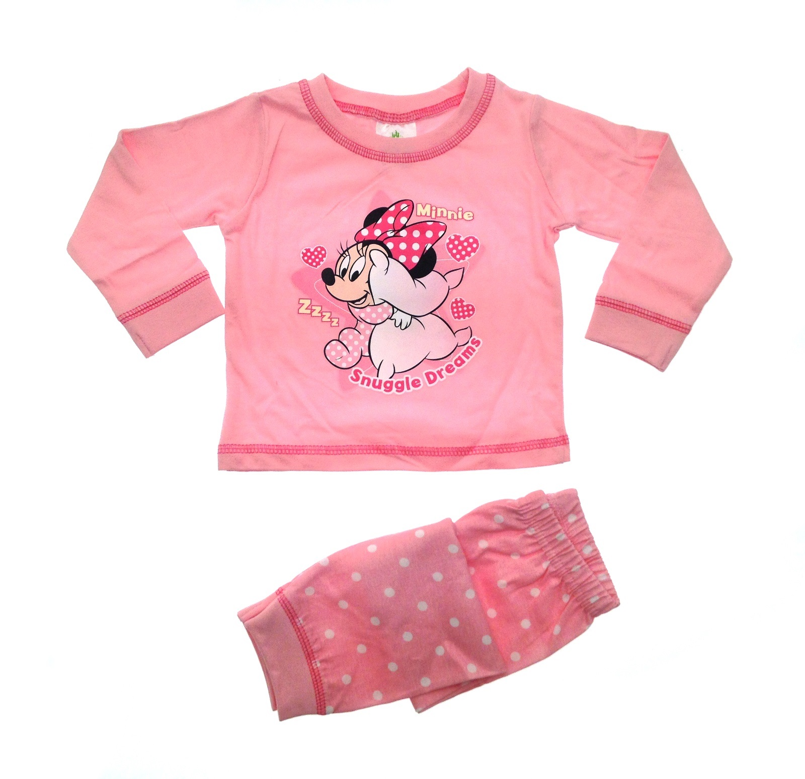 ca463142d0c4 Baby Girls Pyjamas Kids Toddlers Disney Minnie Mouse Pjs Set Me To ...
