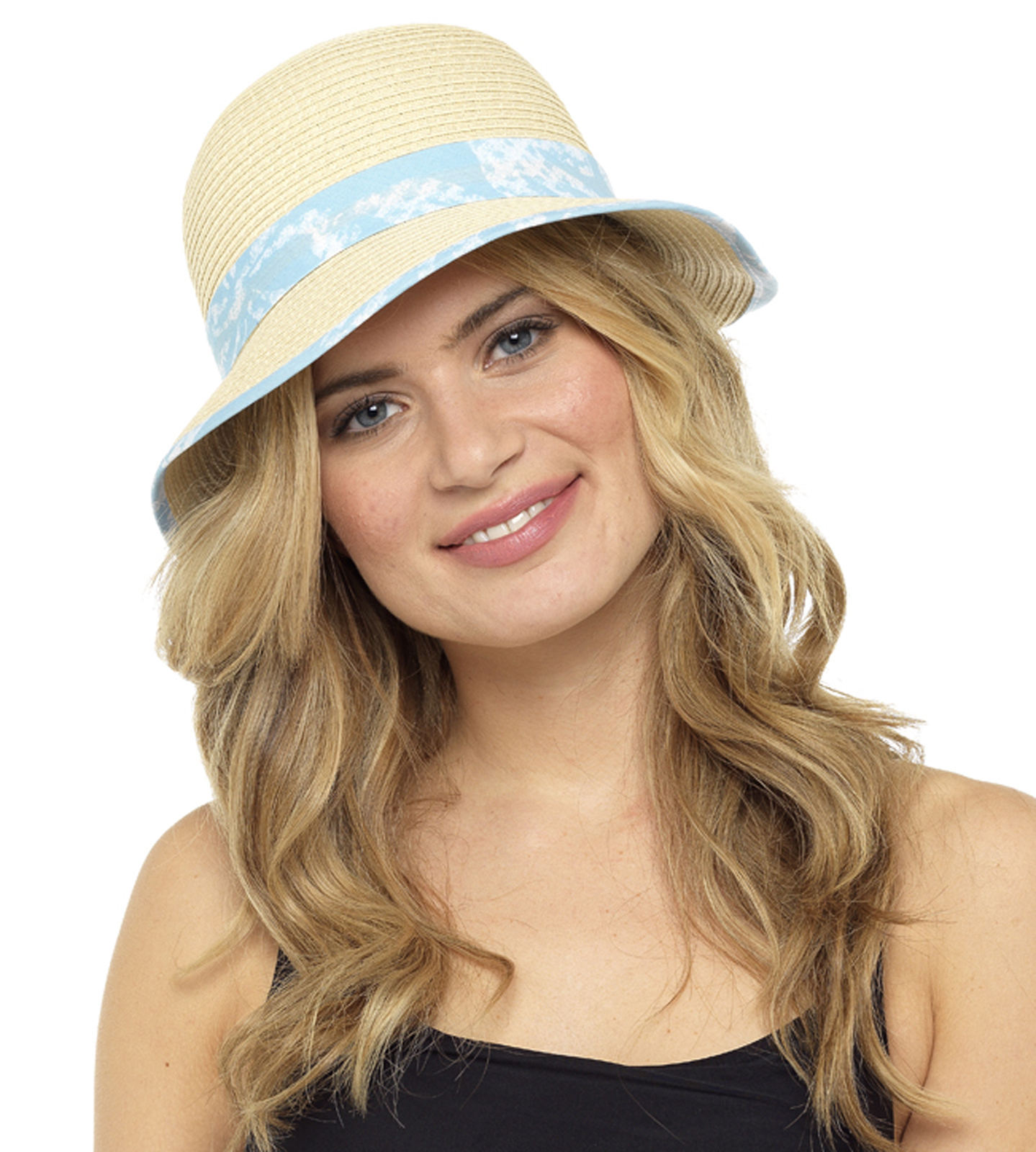 Ladies Girls Wide Brim Summer Sun Hat Packable /& Crushable with Scarf Trim