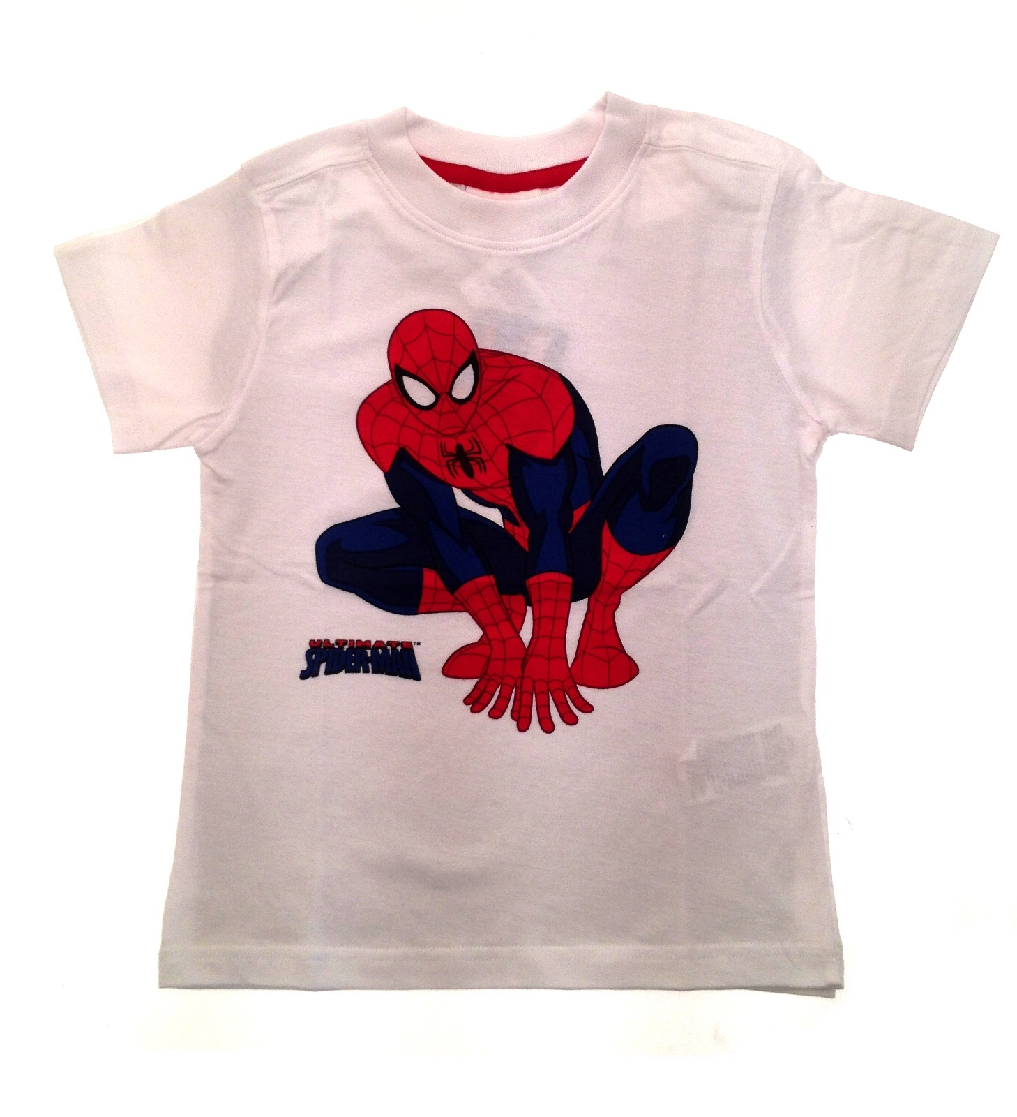Boys short sleeve ultimate spiderman t shirt kids summer for What size shirt for 8 year old boy