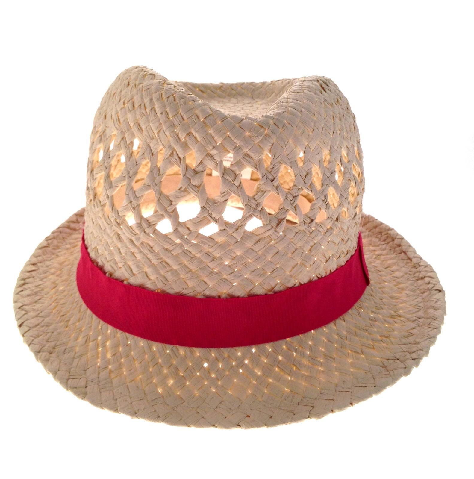 Para-Mujer-De-Paja-Verano-Sombrero-Semi-ala-Unisex-Sol-Panama-Fedora-Para-Hombre-Trilby-Sombrero miniatura 13