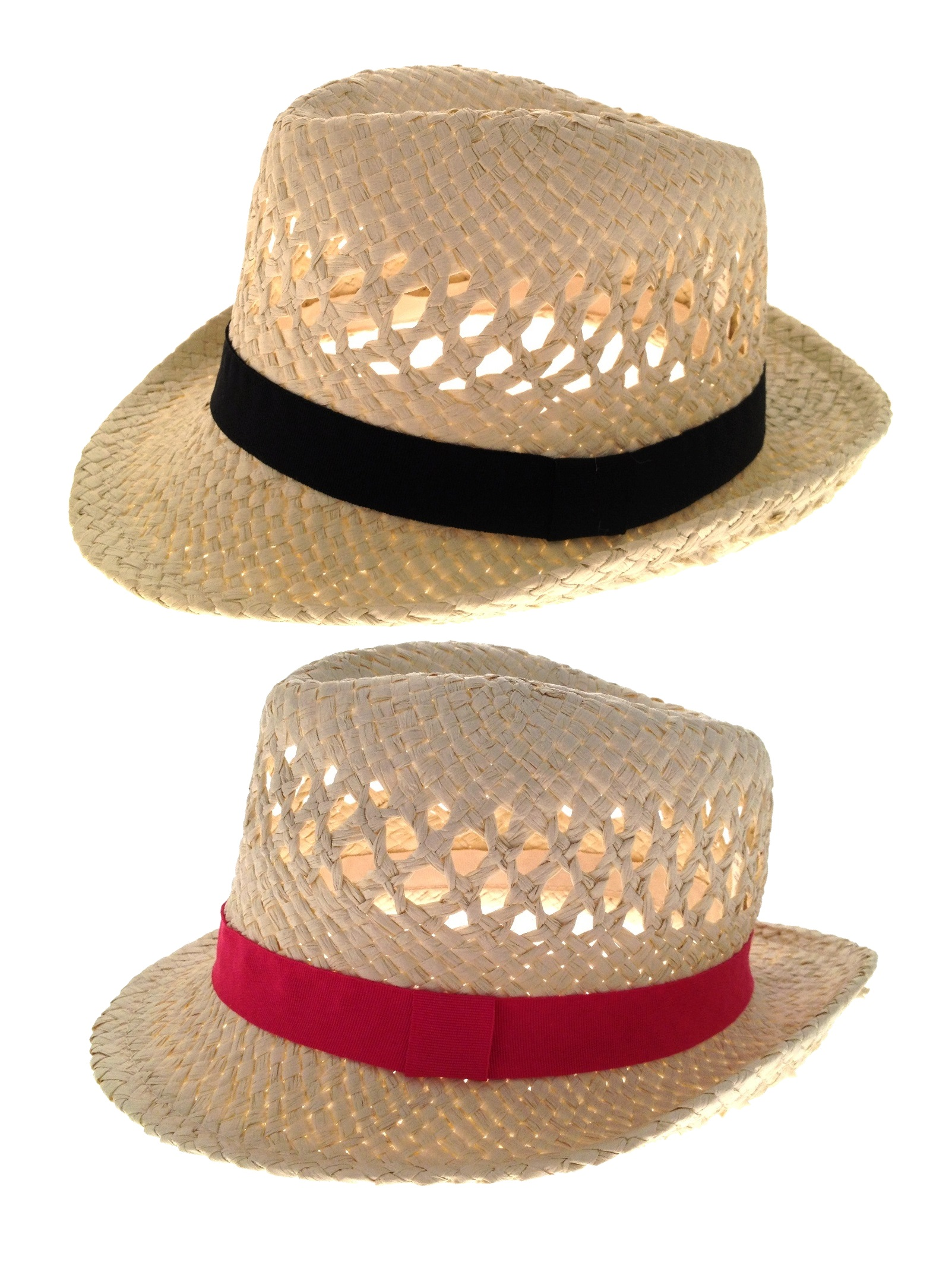 Para-Mujer-De-Paja-Verano-Sombrero-Semi-ala-Unisex-Sol-Panama-Fedora-Para-Hombre-Trilby-Sombrero miniatura 14