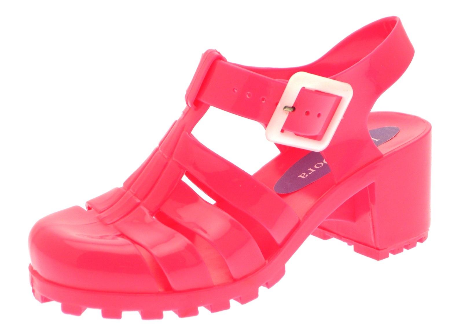 Fuchsia Chunky Heel Shoes