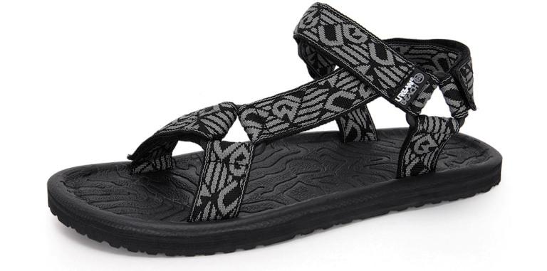 f0a336d925de Mens Boys Urban Beach Sports Sandals Flip Flops Adjustable Straps ...
