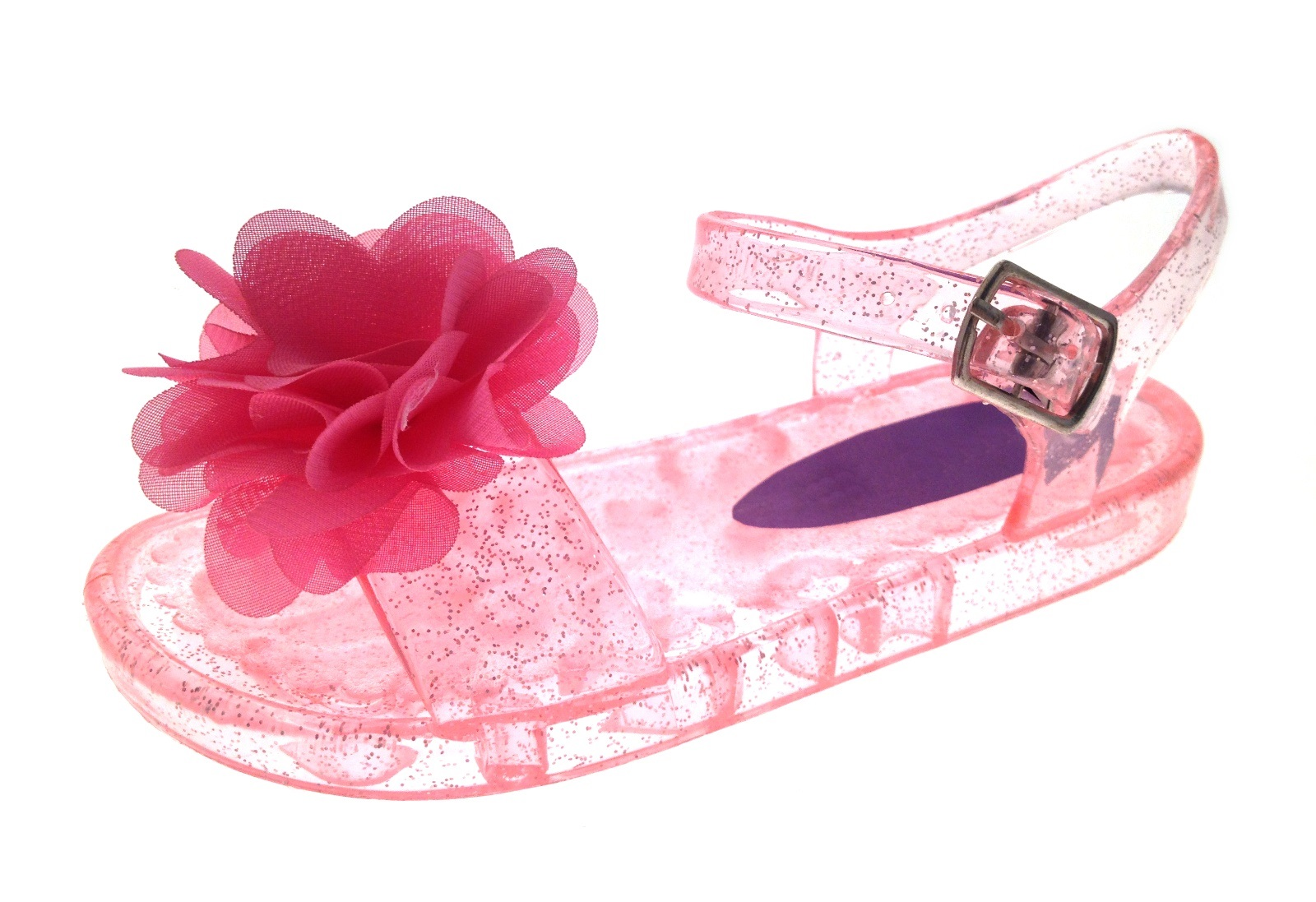 Completely new Girls Jelly Sandals Shoes Kids Flat Summer Beach Flower Jellies  JB59