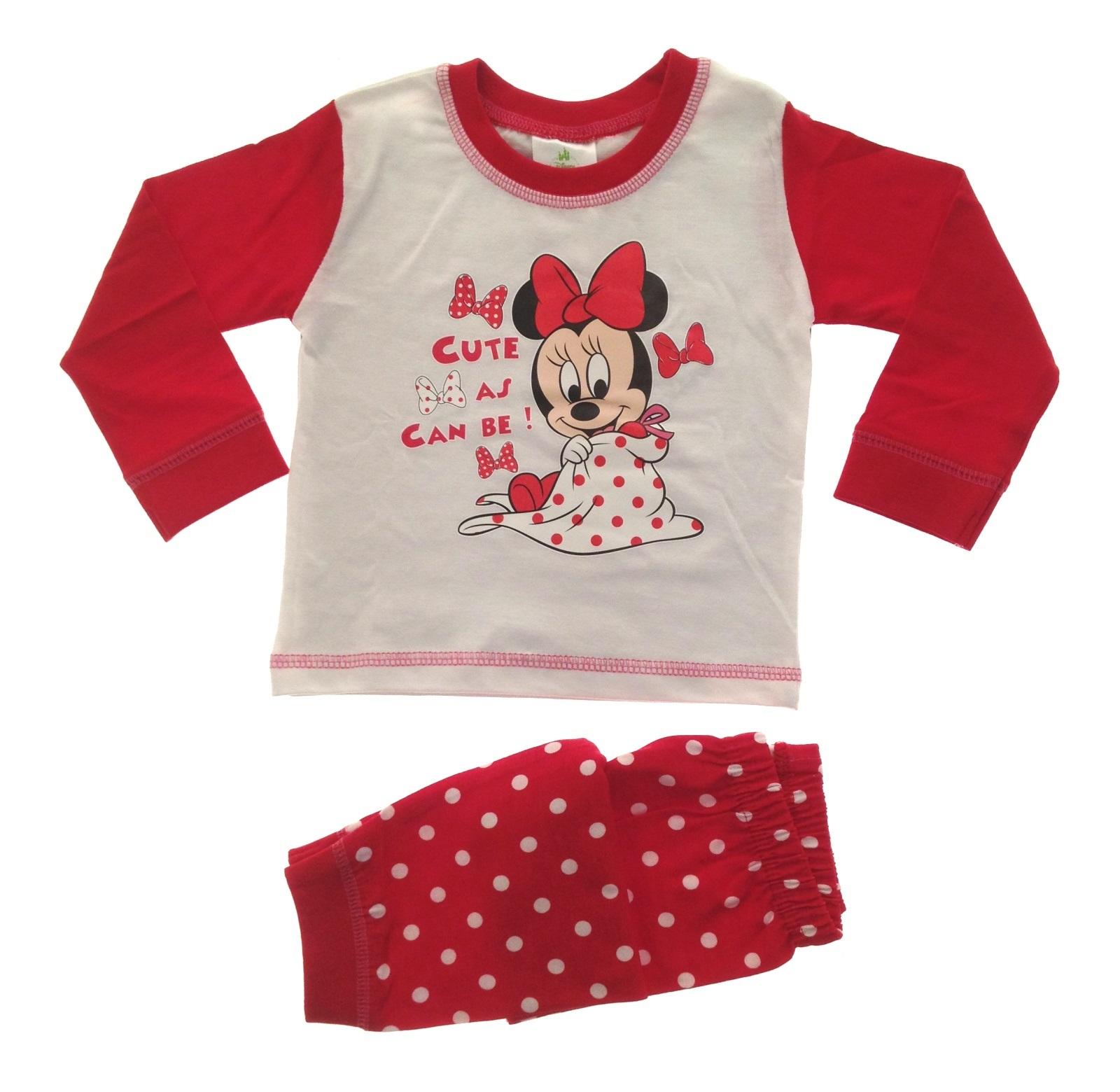 Baby Girls Pyjamas Kids Toddlers Disney Minnie Mouse Pjs Set Me To ...
