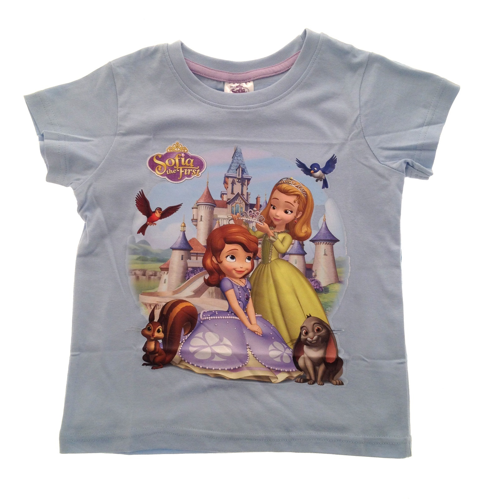 Girls-Disney-Princess-Sofia-The-First-Summer-Tops-T-Shirts-Size-UK-2-8-Years