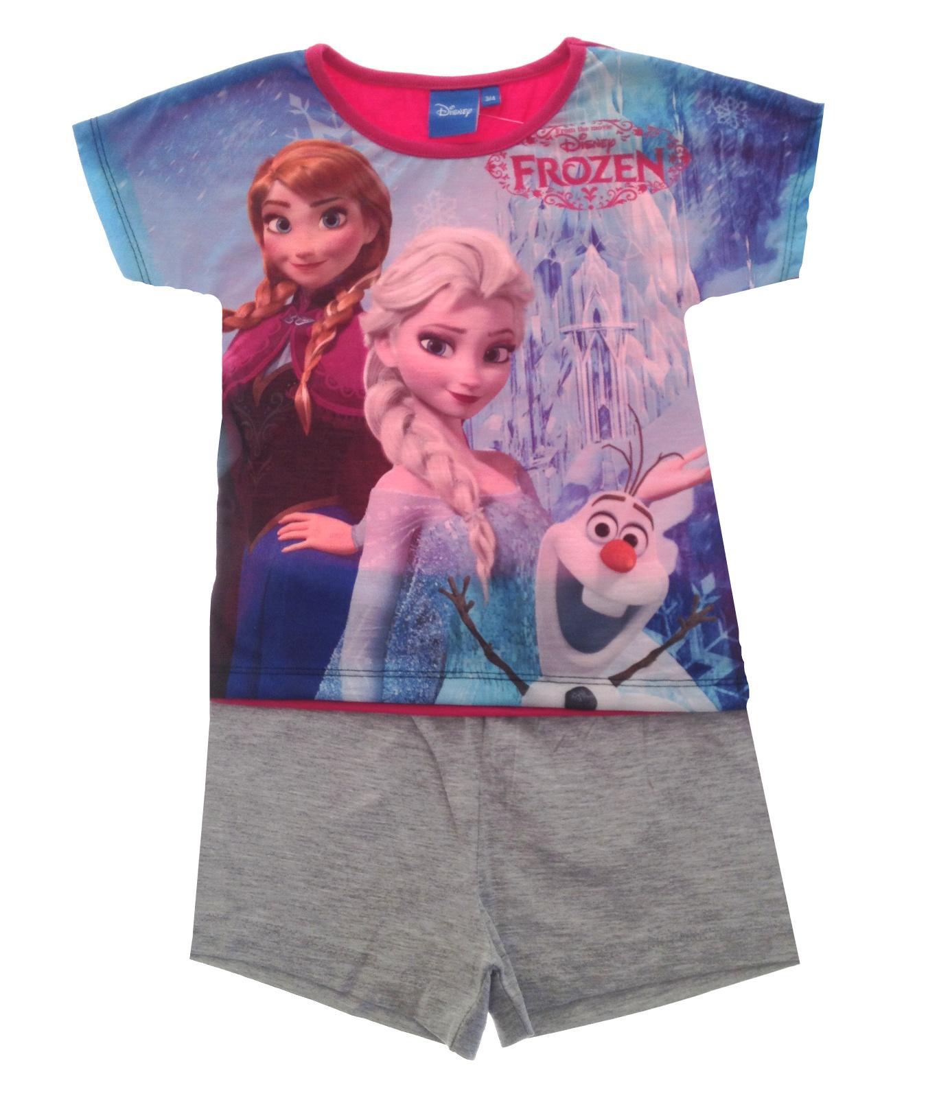 9fae23631b Girls Official Disney Frozen   Sofia the First Short Pyjamas Pj s ...