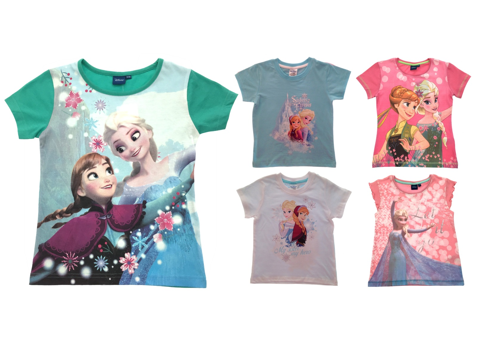 Girls Official Disney Frozen T Shirts Kids Elsa Anna Summer Tops Size UK 1 8 Yrs