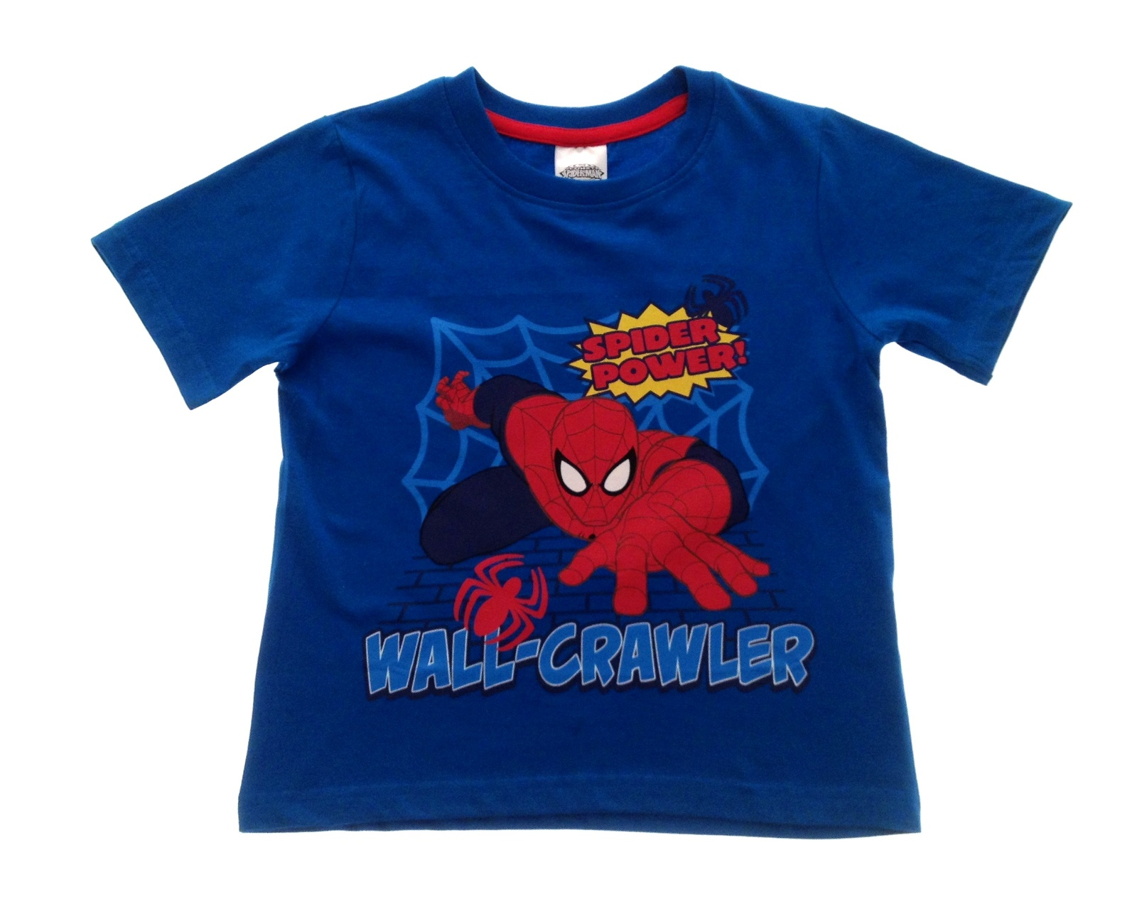 Boys Short Sleeve Ultimate Spiderman T Shirt Kids Summer