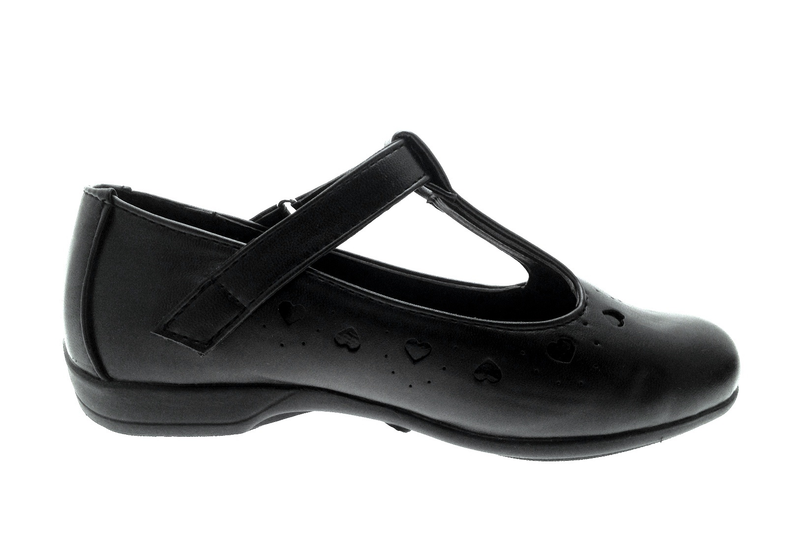 Kids S Black School Shoes Faux Leather T