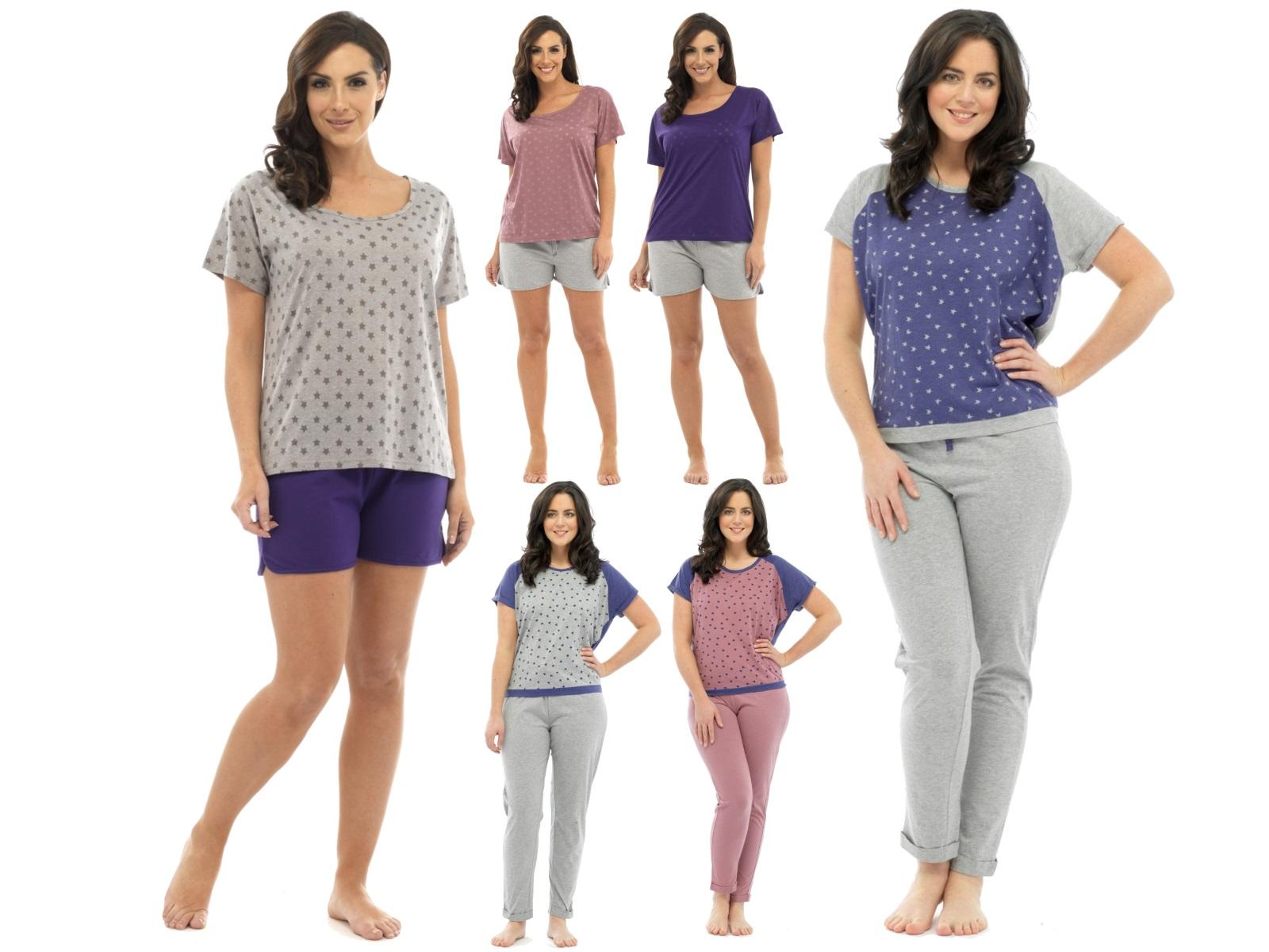 Womens Pyjamas 2 Piece Set Nightwear Short Or Long Ladies ...