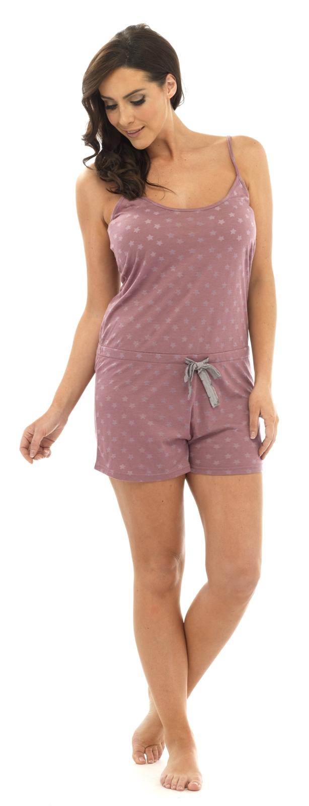 dbbd9383e Womens Sleeveless Playsuit Pyjamas Short All In One Ladies Nightwear ...