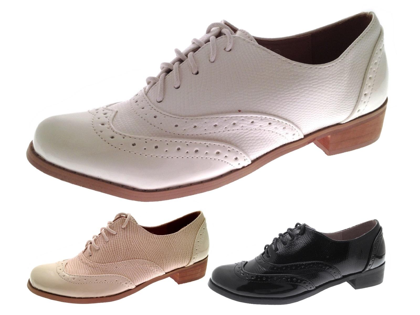 Brogues Low Heel School Shoes Casual