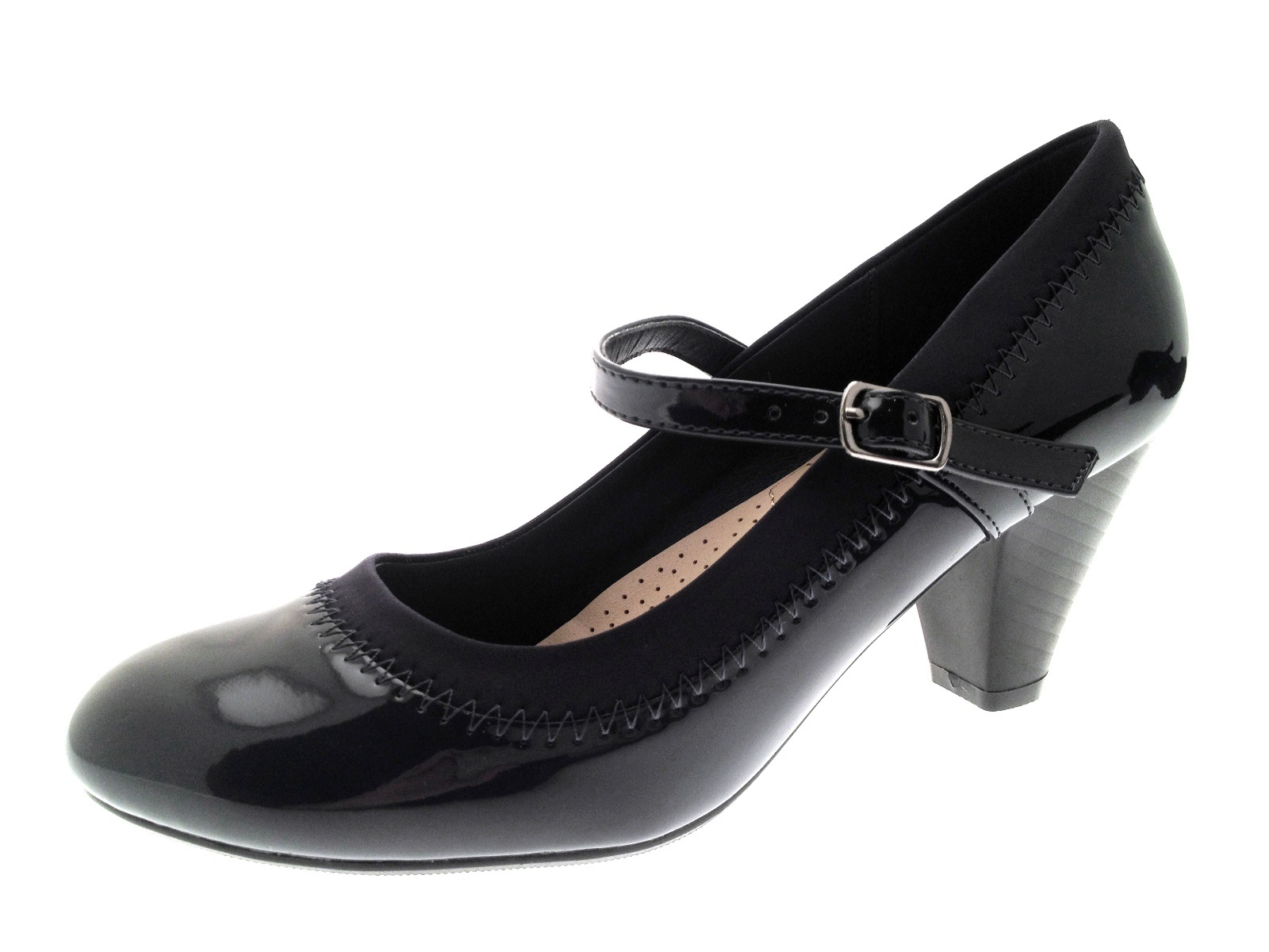Womens Mary Jane Comfort Shoes Low Heel Casual Work Court Shoes ...